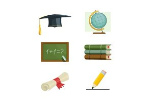 Education. Set of vector icons.