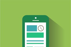 Smartphone material design green