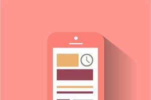 Smartphone material design pink