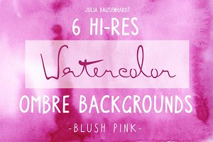 Watercolor Ombre Backgrounds (pink)