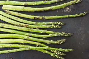 Asparagus cooking