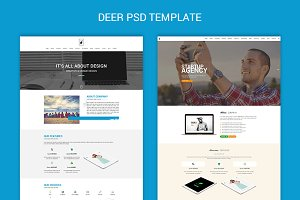 Deer - One Page PSD Template