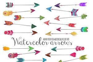 Arrows watercolor clip art