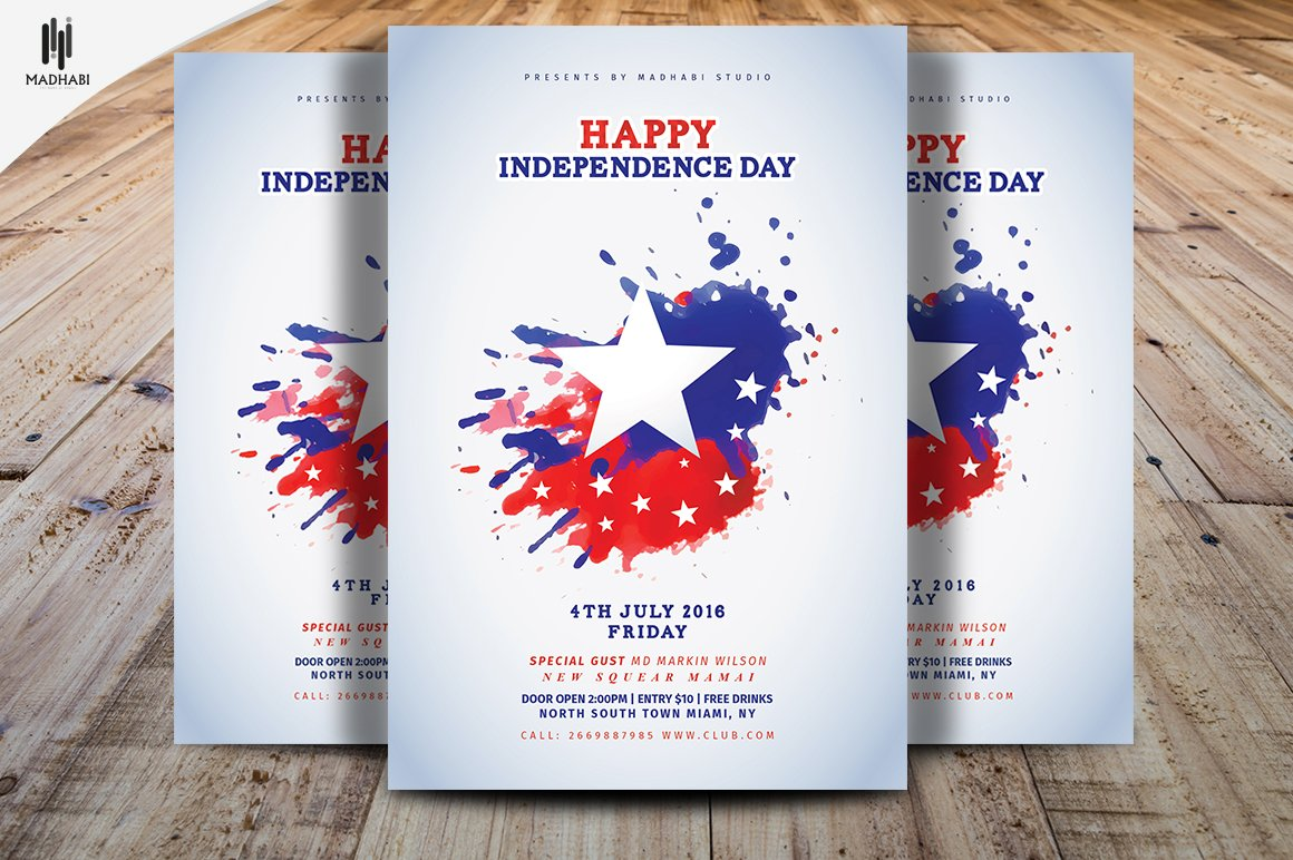 Happy Independence Day Flyer ~ Flyer Templates ~ Creative Market