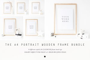 BUNDLE - A4 Wooden Frame mock up