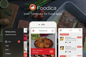 Foodica: Ionic Food app theme