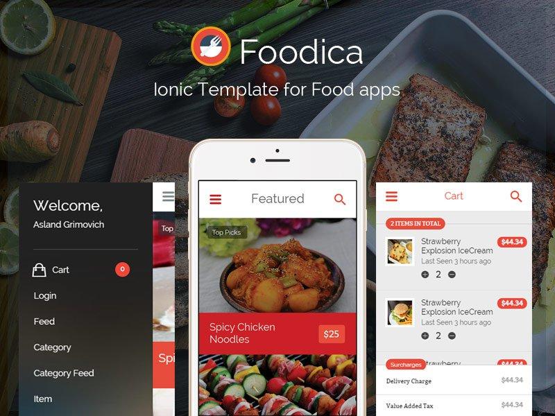 Foodica ionic food app theme htmlcss themes creative market forumfinder Choice Image
