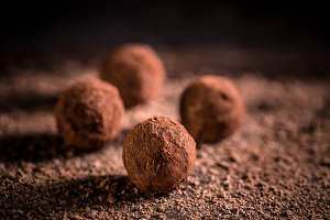 Sweet chocolate balls