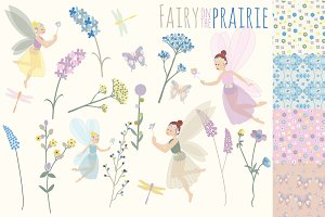 Fairy on the Prairie Clipart