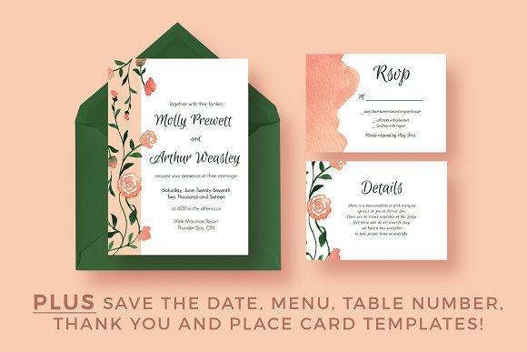 Flower Garland Wedding Suite 2.0 - Invitations