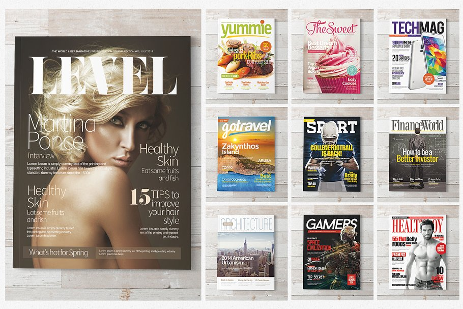 magazine cover page template psd.html