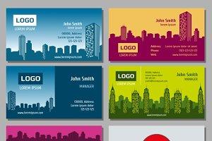 Real estate vector business card set