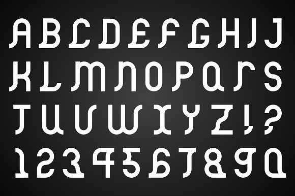 Vector alphabet set. B&W Font. - Illustrations
