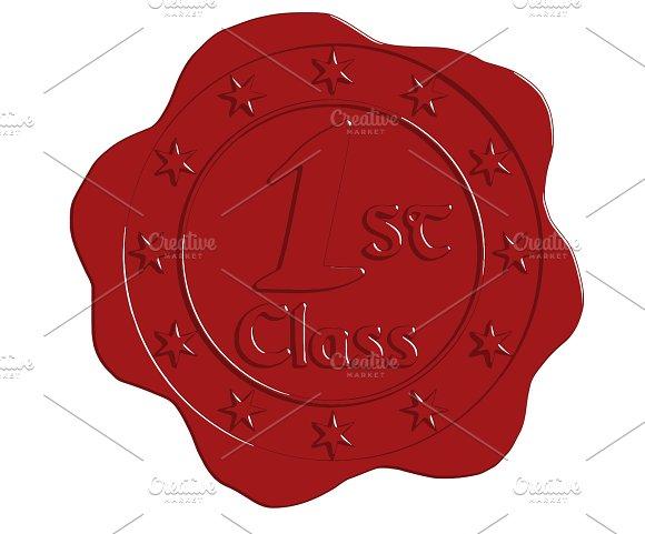 First Class Red Wax