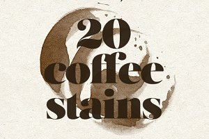 Coffee Stains - 20 Brushes & Vectors