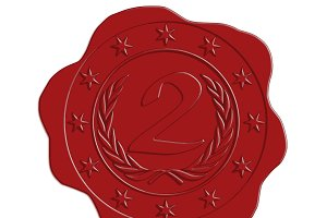 Second Place Red Wax Seal