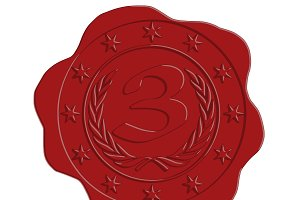 Third Place Red Wax Seal