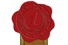 First Place Red Wax Seal with Ribbon