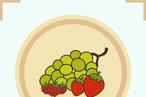 Berries color icon. Vector