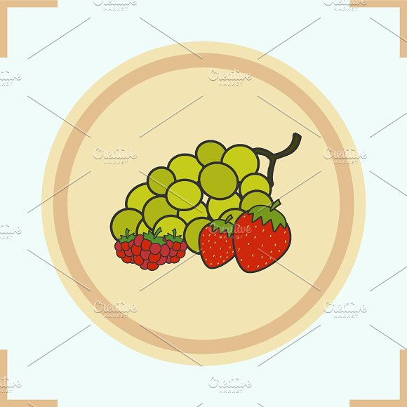Berries color icon. Vector - Icons