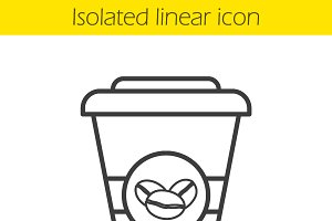 Takeaway coffee cup icon. Vector