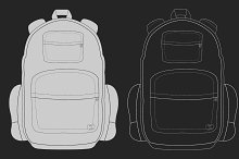 Travel backpack. Vector