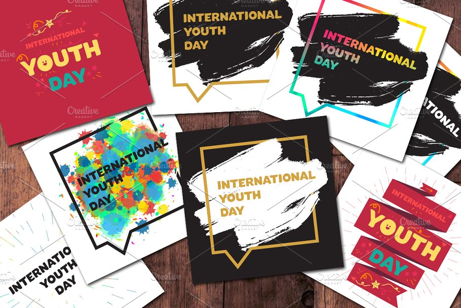 8 International Youth Day Banners