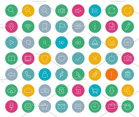 Digital. 56 linear icons. Vector - Icons