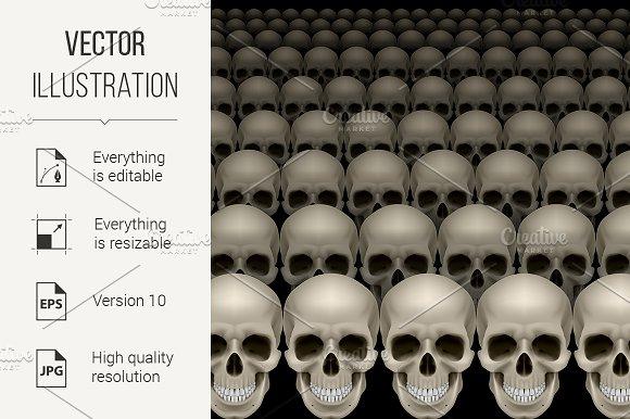 Rows of skulls in Graphics