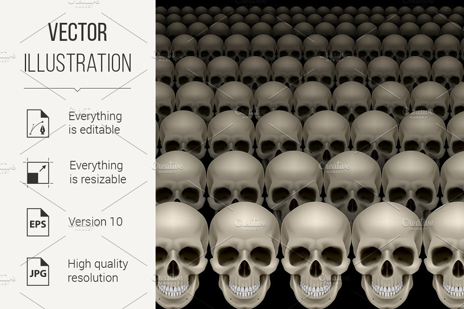Rows of skulls in Graphics - product preview 8