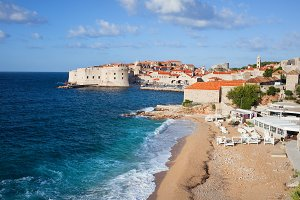 Beach and Sea at Dubrovnik Old Town