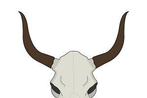 Cow skull. Vector