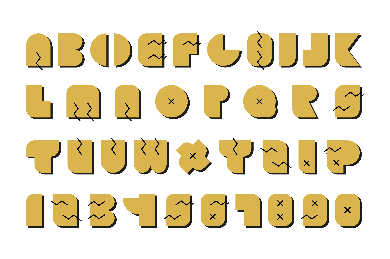 Vector alphabet gold memphis font graphic objects creative market gold memphis font graphic objects creative market spiritdancerdesigns Images