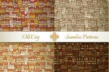 Medieval City Seamless Patterns #1