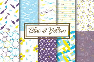 Blue, Yellow and Violet patterns