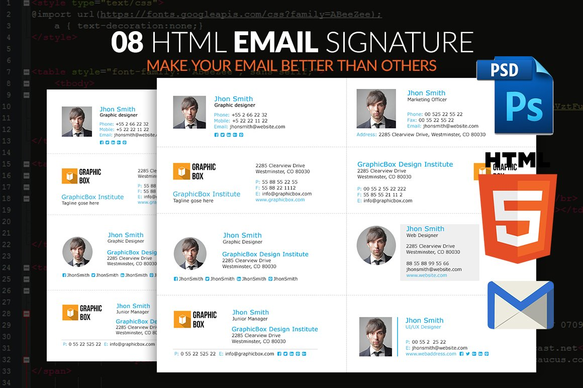 Email Signature ~ Other Platform Email Templates ~ Creative
