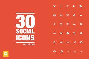 Social Media Icons - PSD