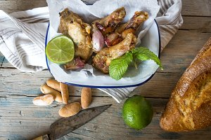 fried chicken wings on white plate