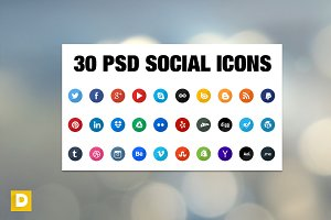 Color Social Icons