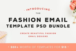 Fashion Email Template PSD Bundle