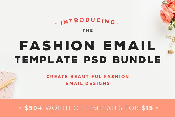 Email Templates: JannaLynnCreative - Fashion Email Template PSD Bundle