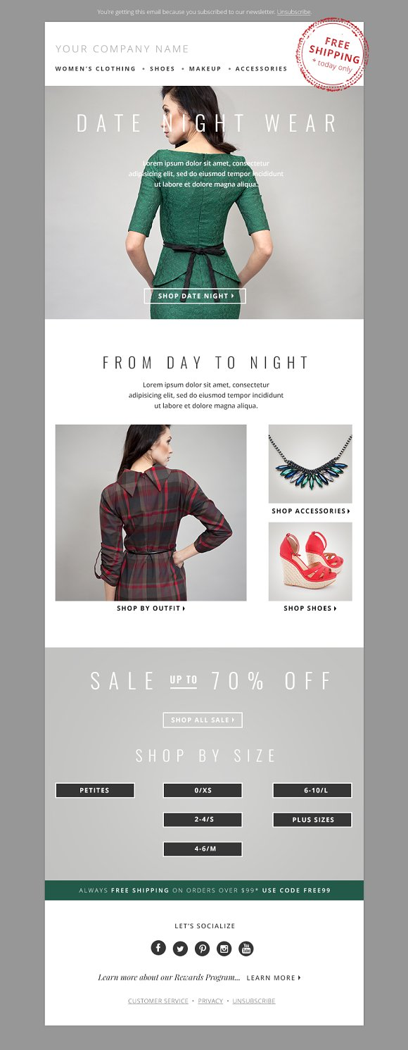 Fashion Email Template PSD Bundle ~ Email Templates ~ Creative Market