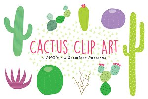 Cactus Clip Art and Patterns
