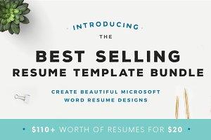 Best Selling Resume Template Bundle