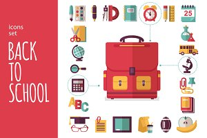 "Icons Set ""Back to school"""