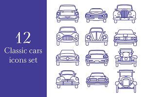 Classic Cars Icons Set