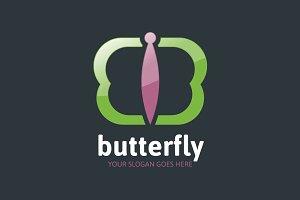 Butterfly Logo - Letter B