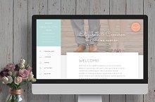 Rustic Wedding Website Template