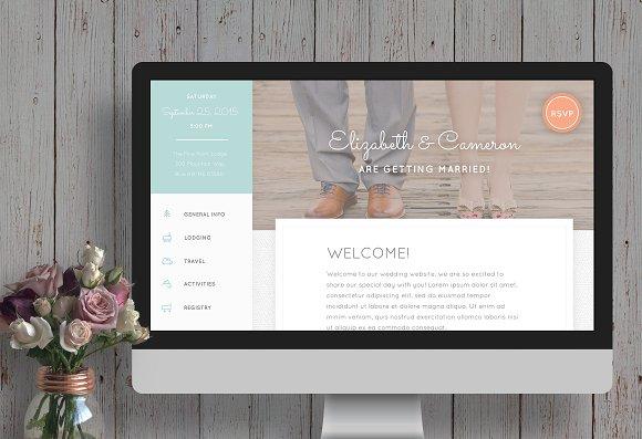 Rustic Wedding Website Template Website Templates Creative Market