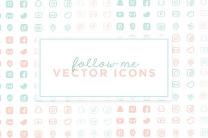 Follow Me - Vector Icons